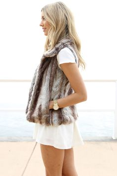 Only reason why I can't wait until fall and winter. Fur vest will never go away