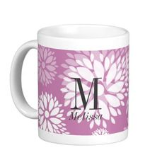 Customizable Floral Mug - very pretty! Available via Zazzle