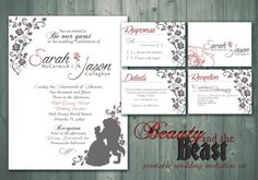 Beauty and the Beast / Printable Wedding by LittoBittoEverything