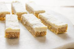 Soft & chewy Raw Tropicana Bars with a pineapple and kaffir lime icing / raw • vegan • gluten free • refined sugar free // ascensionkitchen.com