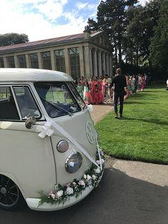 Wedding Car Richmond | The White Van Wedding Company | London Wedding Vans, Wedding Car Hire, Wedding Company, Quirky Wedding, Woodland Wedding, Boho Wedding, Wedding Ideas, Vw Campervan Hire, Wedding Car Decorations