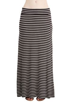 Sign Along the Line Skirt. Slipping into this striped skirt is your pledge to keep it cool and casual! #black #modcloth