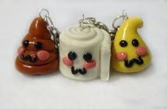 BFF Necklaces of poop, toiletpaper, and pee gross but cool :)