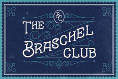 Braschel Club Typeface by Dega Syukurilah on @creativemarket