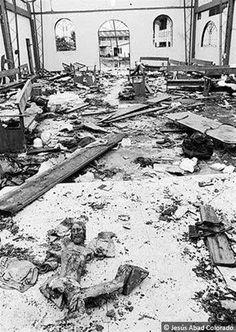 Masacre de Bojayá 2002. Chocó, Colombia. Setenta y nueve personas muertas, cuarenta y ocho de ellas menores de edad.