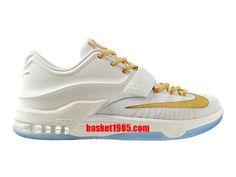 the latest e477a 1cfb2 Chaussures Basket Nike Kd 7 VII Pas Cher Pour Homme Or Blanc  653996-ID2-1409281446 - Boutique Chaussures Basket En Ligne.