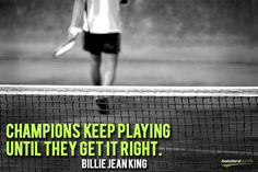 Billie Jean King is the proud founder of World Team Tennis! Inspirational Tennis Quotes, Motivational, Inspiring Quotes, World Team Tennis, Tennis Pictures, Tennis Online, Tennis Funny, Tennis Workout, Match Point