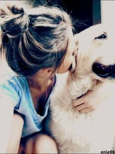 girl with dog, animal best friends