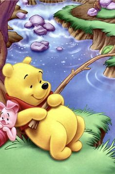 """Piglet sidled up to Pooh from behind."" he whispered. ""Yes, Piglet?"" ""Nothing,"" said Piglet, taking Pooh's hand. ""I just wanted to be sure of you. Cute Winnie The Pooh, Winne The Pooh, Winnie The Pooh Quotes, Cute Disney, Disney Art, Walt Disney, Disney Stuff, Lilo Et Stitch, Cute Wallpapers Quotes"