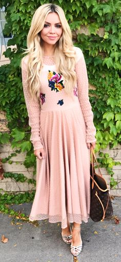 523523a64d  winter  outfits beige illusion neck long-sleeve long dress All Things  Fabulous