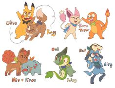 10 years of pokemon mystery dungeon- my first team for every generation! team azul, team amulet, team yarrow, the comets, and the wanderers Pokemon People, Pokemon Ships, All Pokemon, Pokemon Games, Pokemon Fan, Cute Pokemon, Pokemon Stuff, Pokemon Dungeon, Pokemon Comics
