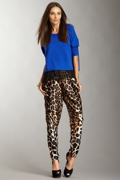 Robert Rodriguez Leopard Trouser...adore this outfit!