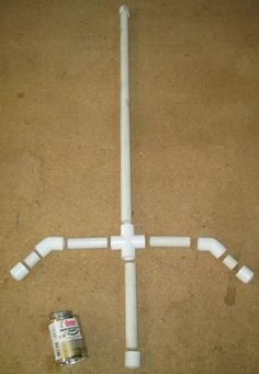 "PVC Sword 2 About 4-feet of 1/2-inch PVC Pipe Four 1/2-inch Caps One 1/2-inch Cross Two 1/2/-inch Elbows Small Can of PVC Cement  Directions  The ""blade"" is 24-inches long, the grip is 6-inches and each section of the hand guard is 4-inches. The two nipples measure 1-inch each."