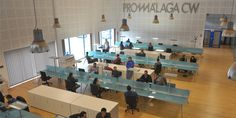 Espacio coworking en Málaga PROMÁLAGA #Coworking Co Working, Coworking Space, Layout, Interior Design, Spaces, Work Spaces, Community, Nest Design, Page Layout