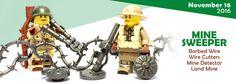 New World War II Mine Sweeper Accessories #LEGO #BrickWarriors #Minifigure #WWII #WorldWarII #MineSweeper #Explosive #LEGOaccessories #MinifigureAccessories