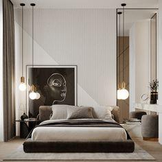 Modern Luxury Bedroom, Master Bedroom Interior, Luxury Bedroom Design, Bedroom Closet Design, Home Room Design, Contemporary Bedroom, Luxurious Bedrooms, Home Decor Bedroom, Bed Headboard Design