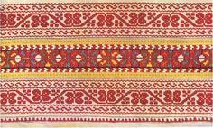 Sleeve embroidery from village Pohorelá, Horehronie region, Central Slovakia Folk Embroidery, Embroidery Patterns, Folk Costume, Bobbin Lace, Folklore, Bohemian Rug, Textiles, Symbols, Traditional