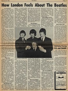 The Beatles The Adelaide News (Australia) June 1964 Source source source Beatles Newspaper Newspaper Wall, Vintage Newspaper, Vintage Maps, Beatles Poster, The Beatles, Book Aesthetic, Aesthetic Vintage, Photo Wall Collage, Picture Wall