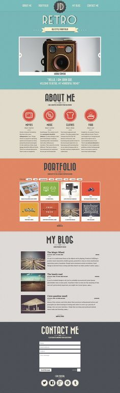 Retro Portfolio – Version 4 has been recently released so, as usual,I wantto share original design PSD project file with the community. Ne...