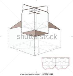 6 pack beer bottle carrier template die cut lines silhouette cameo troquelado fotos imgenes y retratos en stock shutterstock maxwellsz
