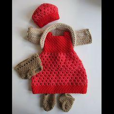 Virkatut nuken vaatteet / Crocheted Doll Clothes