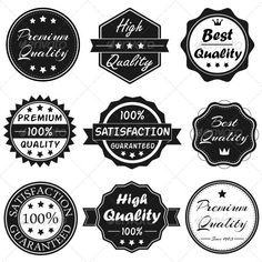 Buy Vector Badges Set 1 by NM-Design-Studio on GraphicRiver. This Set includes 9 Vector Badges, organized in separate layers. All layers are fully editable so you can add effects. Free Website Templates, Logo Templates, 404 Pages, Edit Text, Badge Logo, Professional Logo Design, Fantasy Character Design, Logo Branding, Logos