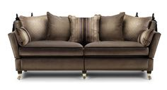 Feet - dark oak on brass castors Minster Knole Scatter Cushions, Seat Cushions, Throw Pillows, Knole Sofa, Bespoke Sofas, Upholstered Furniture, Lounge, Couch, Contemporary