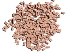 300 Brown Miniature Bricks  O scale 1:48  for dolls house