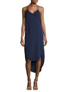 Finders Keepers The Prelude High Low Slip Dress