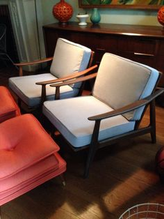Danish Lounge Chairs from Craigslist. For my Mid Century Modern!