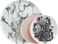 obsessed with those pale pink salad plates - CB2