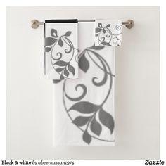 Black & white bath towel set - black and white gifts unique special b&w style Unique Presents, Unique Gifts, Boat Accessories, Bathroom Accessories, Black Bath, Cool Boats, Boat Stuff, Black And White Style, Bath Towel Sets
