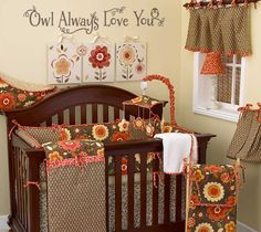 """""""Owl Always Love You"""" vinyl wall decal owl nature tree nursery. See more decals at www.lacybella.com"""
