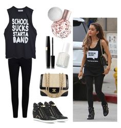 """"""" Ariana Grande """" by lousworld on Polyvore featuring moda, River Island, Essie i Chanel"""