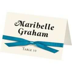 Superfine Soft White Printable Place Cards