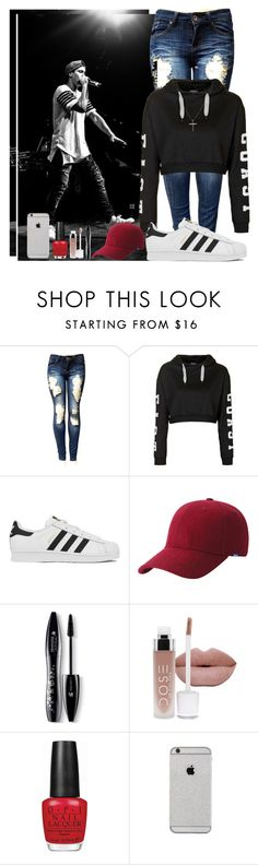 """Watching Derek perform"" by aj-luh ❤ liked on Polyvore featuring Topshop, adidas, Keds, Lancôme, OPI, Joop!, DerekLuh and freshless"