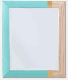 DIY Color Blocked Mirror Frame with Martha Stewart Crafts #plaidcrafts