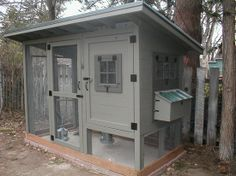A coop isn't merely a shelter, it is a house wherever your chickens live. Chicken coop made from an old swing collection. Therefore, if you'd love to have a really good clean looking chicken coop with a lot of character,… Continue Reading → Chicken Barn, Chicken Coup, Best Chicken Coop, Backyard Chicken Coops, Building A Chicken Coop, Chickens Backyard, Chicken Life, Chicken Houses, Chicken Coop Kit