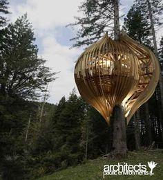 מסעדה על צמרת העץ הנקראת Yellow Treehouse café ועוצבה על ידי משרד האדריכלים Pacific Environments.