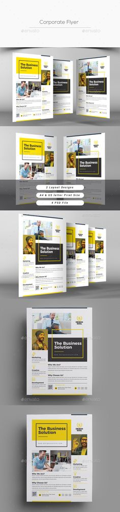 Corporate Flyer Template PSD - A4 & US Letter Size