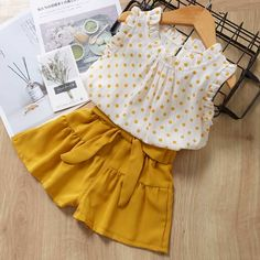 Melario Casual Girls Clothing Sets Summer Kids Clothing Sets Sleeveless floral T-shirt shorts Suit Bow Children Girls Suit Baby Outfits Newborn, Toddler Outfits, Girl Outfits, Baby Girl Fashion, Kids Fashion, Baby Frocks Designs, Baby Dress Patterns, Kids Frocks, Matching Family Outfits