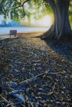 'A Walk in the Park'  2012 Oil on canvas 51x76cm