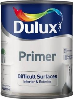 Dulux Difficult Surface Primer. Ideal for priming UPVC window frames for painting.