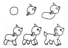 Easy Way How to Draw Sketches of Animal figures Step by Step for Kids ~ Creativehozz About Home Decorating Design, Entertainment, Kids, Creative Ideas, Crafts Easy Animal Drawings, Easy Drawings For Kids, Fish Drawings, Animal Sketches, Drawing For Kids, Drawing Ideas, Drawing Skills, Drawing Sketches, Drawing Techniques
