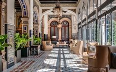 Stay at this historic venue in the heart of Seville, Spain. You can't help but stare at the interiors and take endless pictures of everything around you. | Photo Credit: Hotel Alfonso XIII, a Luxury Collection Hotel, Seville