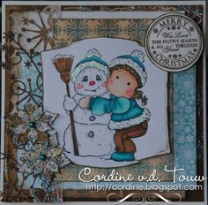 Snowy Hug, Merry Little Christmas 2010 collection, Magnolia stamps