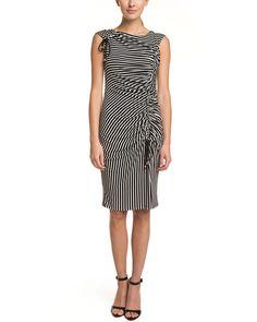Eva Franco Optiz Stripe Ruched Dress is on Rue. Shop it now.
