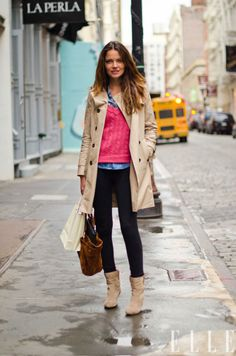 camisa jeans + tricô quentinho + trench coat = 01 amor de sobreposição