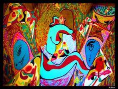 """M .Buen """"Clímax"""" pintura sobre pared.100 X 200 centímetros. El arte es la forma de expresar diferente nuestros sentimientos y nuestras emociones."""