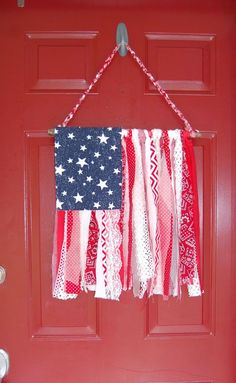 Shabby Chic Amercan Flag
